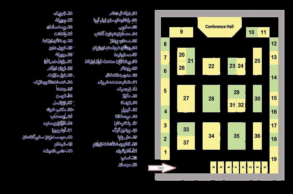 جانمایی شرکت ها در نهمین نمایشگاه کار
