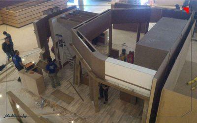 آماده سازی غرفه ها در اولین نمایشگاه کار